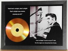 ELVIS PRESLEY 'THAT'S ALL RIGHT' SUN RECORDS SIGNED GOLD PRESENTATION PHOTO/DISC