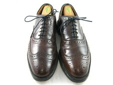 "Allen Edmonds  ""CAMBRIDGE"" Oxfords 8.5 C Brown SHELL CORDOVAN  (983)"