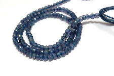 """natural iolite 3-4mm faceted rondelle loose beads 13"""" strand"""