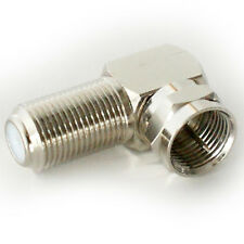 10x 90 Degree F Type Screw Connector Adapter-Coax Right Angled Plug to Socket