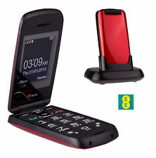 TTfone Star Big Button Flip Pay as you go Pre pay PAYG Mobile Phone EE Red