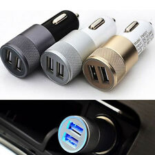 Dual USB Cigarette Lighter Socket Car Charger Double Twin 2 Port 12V 3.1 AMP Top