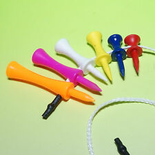 The NEW 'Tee String' - Six different size Golf Tees on a String !