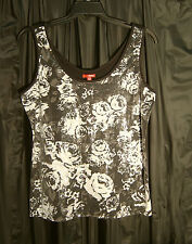 WOW~FULL FRONT SEQUINS STRETCH KNIT TANK CAMI CAMISOLE TOP~JUNIOR/PLUS 3X~1X~NEW