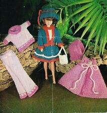 "12""  Dolls clothes knitting pattern.   Laminated copy. ( V Doll 130)"