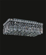 "4-Lights Modern Ceiling Flush Mount (L16"" x W8 ""x H5"") Crystal Lighting Fixture"