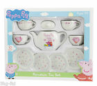 Peppa Pig 10 Piece Porcelain Tea Set Toy Inc 4 Cups & 4 Saucers & Teapot New