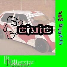 Domo Civic JDM Sticker Aufkleber oem Power fun like Shocker DUB