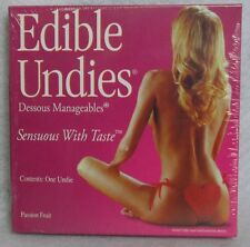 Edible Undies Female Pink Champagne Adjustable Panty Playful Sexy Romance Gift