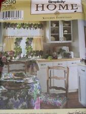 SIMPLICITY #8690 - KITCHEN APPLIANCE COVER-APRON-CURTAINS-CUSHION PATTERN  OZ uc