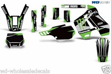 Graphic Kit Kawasaki KDX 200 Bike Decals Kawi Deco w/Backgrounds KDX200 89-94 MR