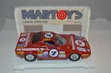 BBurago #77 1:24 Martoys Lancia Stratos Tennis Rossignol with display superb