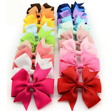 20 Pcs Colorful Bowknot Hairpin Kids Baby Girls Hair Bow Clip Barrette Wholesale
