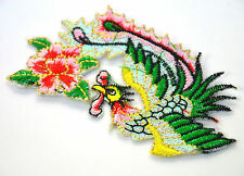 BIRD OF PARADISE LILY LYRE Embroidered Iron Sew On Cloth Patch Badge  APPLIQUE