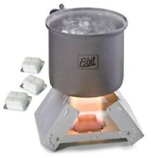 Esbit Pocket Stove & Solid Fuel Cubes Backpacking Emergency Survival Foldable