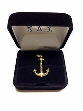 """""""14K"""" Yellow Fine Gold Nautical Boat Anchor Pendant / Charm - Pre-Owned"""