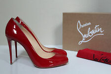 New sz 9.5 / 40 Christian Louboutin Dorissima Red Patent Pointed Toe Pump Shoe