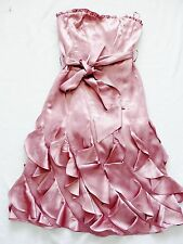 BNWT NEXT  ladies~ rrp80~ DUSKY PINK SILKY OCASSION corset calf Dress size 6