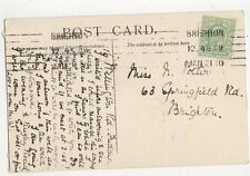 Miss N Potter Springfield Road Brighton 1910 296a