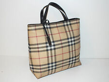 Genuine Burberry Nova Check Large Shopper Tote Bag with metal fob well used 99p