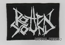 ROTTEN SOUND EMBROIDERED PATCH GRINDCORE NASUM NAPALM DEATH DESTROY Metal Negro