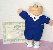 "1985 CABBAGE PATCH KIDS 15""doll  - with adoption certificate - coleco"