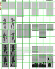 8008 DAVE'S DECALS SCALE DECALS CUSTOM WINDOW Silhouettes SHADES FURNITURE WOMEN