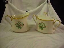 Lenox Holiday Pattern Creamer & Sugar Bowl