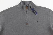 Men's POLO RALPH LAUREN Heather Gray Grey Mock Zip Sweater 3XB 3X BIG NWT NEW