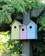 Triplo 3 in 1 Nido Legno Uccello Selvatico Casa Casella Piccolo Robin Moderno