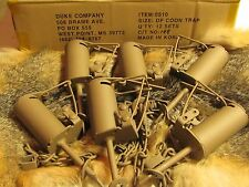 12 Powder Coated Duke DP Dog Proof Coon Traps Trapping Raccoon