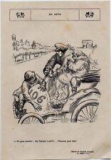 1908  --  HUMOUR  WILLETTE   EN AUTO    3K722