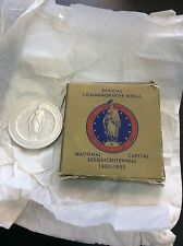 1950 Washington D.C. National Capital Sesquicentennial Medal HK-507 w/Orig. Box!