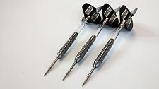 Tungsten Darts set 24 g & Strong Black Pentathlon Flights & Clear Shafts/Stems