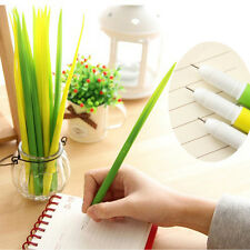 12pcs Grass Leaf Grass-Blade Pen Stationery Sign Pen Surprising Gifts Sale