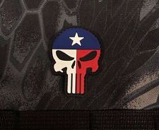 Texas Punisher Skull PVC Morale Patch