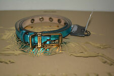 NIB BURBERRY METALLIC LEATHER BELT SZ 36/90 MADE IN ITALY