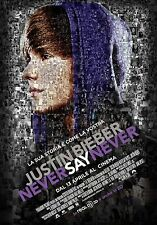 POSTER JUSTIN BIEBER NEVER SAY NEVER MUSIC TEENAGER ONE TIME MY WORLD 2.0  #1