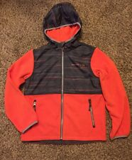 NWT FREE COUNTRY Microtech Fleece Zip up Hooded Jacket Boy's Size XL (10/12)