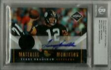 Terry Bradshaw 2010 LIMITED MONIKERS JERSEY AUTO CARD /25 Steelers 2014 Leaf BGS