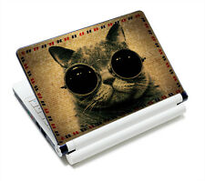 """Universal 12""""13.3""""14""""15.6"""" Glasses Cat Laptop Decal Protector Skin Sticker Cover"""