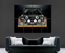 AUDI CAR POSTER SPORT QUATTTRO S1 RALLY CLASSIC HUGE LARGE WALL  PICTURE