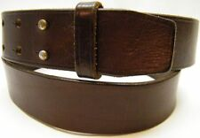 WOMEN ABERCROMBIE FITCH BROWN GENUINE LEATHER DOUBLE PRONG BELT SIZE LARGE 30-36
