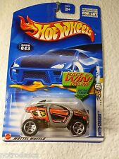 2002 FIRST EDITIONS HOT WHEELS ∞ MOTO-CROSSED  #43 ∞ No. 31 /42 BLACK INTERIOR