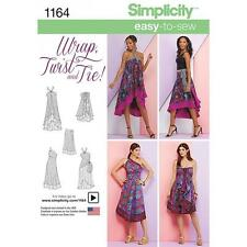 SIMPLICITY SEWING PATTERN MISSES' DOUBLE LAYER WRAP SKIRT & TIE SIZES XS-XL 1164