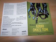 ADDIO ONKEL TOM - Werberatschlag WA ´80er - JACOPETTI