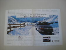 advertising Pubblicità 1994 CHRYSLER VOYAGER