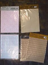 VTG Lot of 5 Tiny Line Dollhouse Miniature Wallpaper Patterns