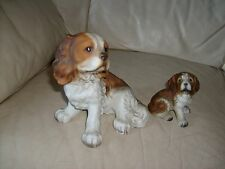 CAVALIER KING CHARLES SPANIEL AND SMALL DOG OF UNKNOWN ORIGION FIGURINES