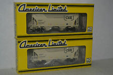 2 American Limited CSX 2-Bay Trinity 3281 Covered Hopper Ho Scale